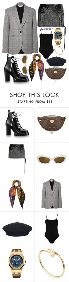 """Untitled #449"" by iamminx ❤ liked on Polyvore featuring Louis Vuitton, Anthony Vaccarello, Chanel, Gucci, Monse, Element, Boohoo, Audemars Piguet, Cartier and parisfashionweek"