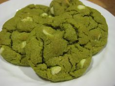 Green Tea White Chocolate Chip Cookies