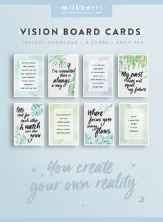 PLEASE NOTE: this is a digital product, no physical product will be shipped Inspire your dreams and bring your vision board to life with these beautiful, eye catching designs. You have the power to focus on the things you truly want to bring into your lif Vision Boarding, Affirmations, Goal Board, Creating A Vision Board, Images And Words, Wall Art Quotes, How To Stay Motivated, Quote Prints, Law Of Attraction