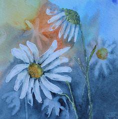 """Prawie codziennie jedna akwarela i od czasu do czasu akryl: Nr 107,19.06.2015r., """"Kwiatki z jarmarku"""""""