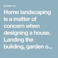 Home landscaping is a matter of concern when designing a house. Landing the building, garden outside or inside, in front or back is also well considered. This is done so that the house has a circul… Home Landscaping, Front Yard Landscaping, Garden Paths, Landing, Beautiful Scenery, Landscape, Building, House, Natural