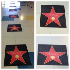 Teacher appreciation decoration. classroom door. Hollywood stars movies theatre academy awards oscars.