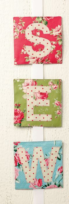 Use fabric from your stash, find the project and templates at Sew it All Magazine