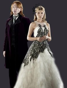 Harry Potter Wedding Dress by Clémence PoésyFleur Delacour on Deathly Hallows: Part 1 - http://casualweddingdresses.net/pictures-of-wedding-dresses-straight-from-hollywoods-beautiful-movie-brides/