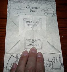 Marauders' Map How-To (Printed it out but it's best for older kids. Rolled it up into a great wand though!)