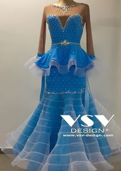 Beautiful Céline Ballroom dress by VSV Design, made with professionalism and tailored to the needs of our clients with attention to every detail.