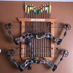Double Bow And Arrow Archery Rack / Holder / Display