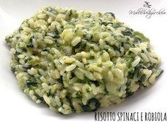 risotto spinaci e robiola