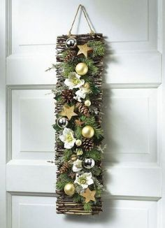 Zu Weihnachten basteln - Wundervolle DIY Bastelideen zum Fest Tinker for Christmas - DIY craft ideas - Christmas decorating ideas déco Rustic Christmas, Christmas Home, Christmas Wreaths, Christmas Ornaments, Christmas Ideas, Art Floral Noel, 242, Diy Weihnachten, Xmas Decorations