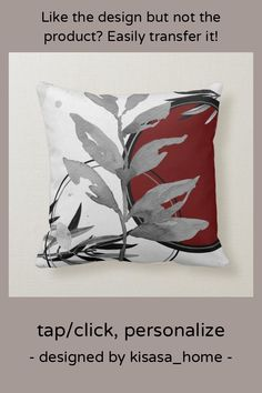 Gray & Burgundy Artistic Abstract Watercolor Throw Pillow - tap to personalize and get yours #ThrowPillow #burgundy #gray #abstract #and #grey Burgundy Colour Palette, Modern Color Palette, Shades Of Burgundy, Burgundy Wine, Watercolor Leaves, Abstract Watercolor, Custom Pillows, Decorative Throw Pillows, Interior Design Sketches