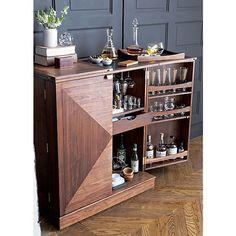Maxine Bar Cabinet in Bar Cabinets & Bar Carts | Crate and Barrel $1499