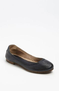 KAE says: My frye boots are some of the most comfortable shoes I own......wonder if these would be comfy too?  Frye 'Carson' Ballet Flat   Nordstrom