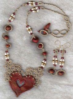 Clay Heart by yarnplayer, via Flickr