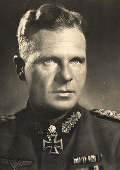 """Gerhard (""""Gerd"""") Helmuth Detloff Graf von Schwerin was a German general of panzers, who was in charge of the formidable 116.Panzer Division during the Battle of Aachen. He attempted to surrender the city to the Americans but failed. He narrowly escaped death after he was arrested for treason and was sent to fight in Italy. After the war, and brief incarceration, he served as the chief rearmament officer in the West German government and a senior adviser on military policy until his death in…"""