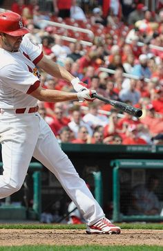 Westbrook drives in a run against the Reds...Cards shutout the Reds 10-0  4-10-13