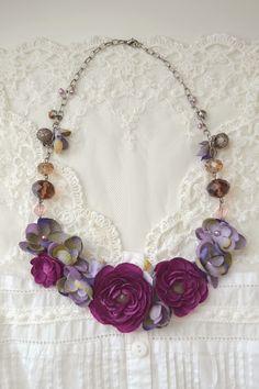 Fleurs en soie pour collier printanier - PLANÈTE TUTOS