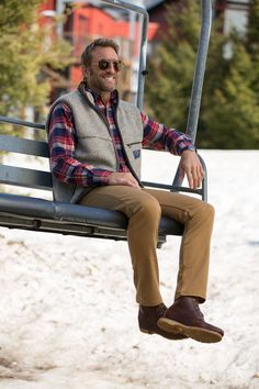 Supima Twill cotton khakis are soft and smooth, yet durable.