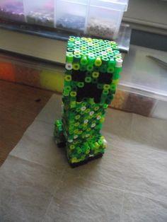 Creeper by azhuresjewels - Kandi Photos on Kandi Patterns Minecraft Perler, Creeper Minecraft, Minecraft Crafts, Kandi Patterns, Perler Patterns, Beading Patterns, 3d Perler Bead, Perler Beads, Bead Crafts