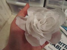 How to Make Five-Minute Fabric Flowers  :  wedding announcements chicago diy flowers tutorial Img 194 IMG_194