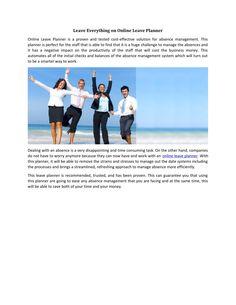 Online Leave Planner, Leave Planner, Staff Leave Planner, Staff Holiday Planner, Annual leave Planne