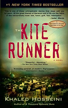 The Kite Runner by - Khaled Hosseini makes you think about all the things that you take TOO SERIOUSLY in your life. And, if you're a writer, it inspires you to write BETTER.