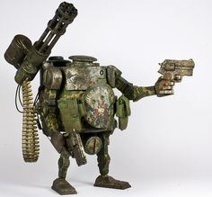 You searched for label/ashley wood - Toy Cutter Steampunk Robots, 3d Figures, Action Figures, Ashley Wood, Sci Fi Models, Cool Robots, Robot Concept Art, Homemade Toys, Robot Design