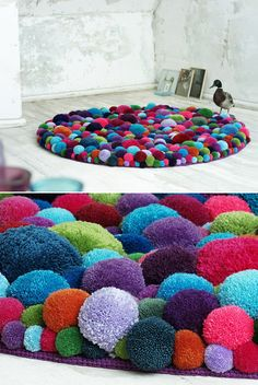 Pom Pom Carpet... Looks so cozy!! | techlovedesign.com