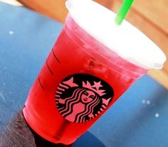 Sour Gummy Worm Refresher! Recipe here: http://starbuckssecretmenu.net/starbucks-secret-menu-sour-gummy-worm-refresher/