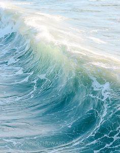 Wave Photography Pretty Beach Decor Ocean by ShannonHowardPrints No Wave, Water Waves, Sea Waves, Sea And Ocean, Ocean Beach, Ocean Sunset, Style Surf, Waves Photography, Nature Photography