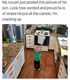 This kid has accomplished more with these carrots than I ever will in my entire life...