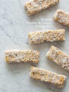 No Bake Pumpkin and Coconut Granola Bars