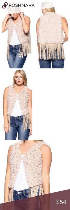 Pink Reversable Faux Fur Shearling Fringe Vest No Trades Price Firm Ships Same Or Next Day Jackets & Coats Vests