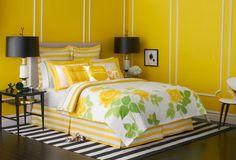 Quartos decorados em tons de amarelo ~ Decoração e Ideias
