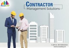 #ContractorManagementSolutions helps firms drastically increase project efficiency and accountability by streamlining and mobilizing project documentation and communication simultaneously boosting profit. See more @ http://bit.ly/1ftkG7F #RealERP #ContractorManagement