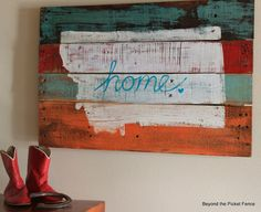 DIY State Wall Art | Pay tribute to your home state by making wall art with your state's shape out of pallet wood