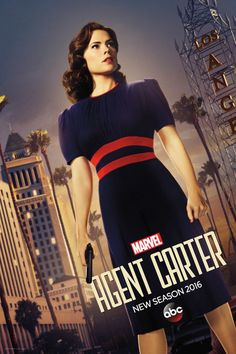 ABC and Marvel have released this promotional poster for the second season of Marvel's Agent Carter. The series stars Hayley Atwell and Peggy Carter and James D'arcy, Hayley Atwell, Peggy Carter, Steve Rogers, Chad Michael Murray, Dominic Cooper, Jessica Jones, Agent Carter Tv Series, Series Da Marvel