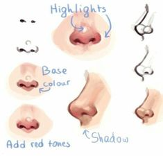 New drawing tutorial face nose 47 Ideas Nose Drawing, Drawing Tips, Drawing Sketches, Drawing Faces, Drawing Techniques, Drawing Ideas, Sketch Ideas, Drawing Face Expressions, Sketching