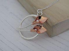 Calla lily pendant Silver and copper calla lily pendant Calla