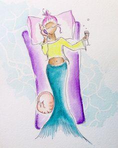 Remember summer?  #theseaiscalling #mermaidart