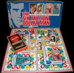 Parker Brothers' 1975 The Six Million Dollar Man Board Game