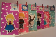 Frozen Anna / Olaf / Elsa Birthday Party Loot Treat Favour Paper Bags