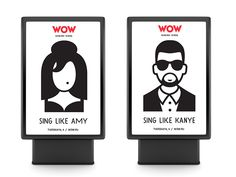 WOW. Karaoke school identity by Vlad Likh, via Behance