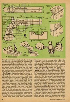 Free DIY Bow plans, Arrow making instructions, Crossbow Plans, Archery Info and All about Archery: Free Pistol Crossbow DIY Plan and Instructions Crossbow Parts, Diy Crossbow, Crossbow Arrows, Hand Crossbow, Crossbow Hunting, Survival Weapons, Survival Prepping, Survival Skills, Wilderness Survival