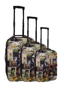 Elvis Presley Luggage 3 Piece Set Lifetime Collage  http://www.alltravelbag.com/elvis-presley-luggage-3-piece-set-lifetime-collage/