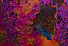 pink, purple, royal blue, orange and rust.
