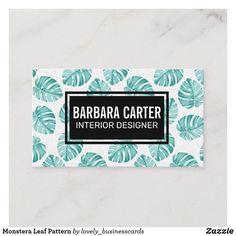 Monstera Leaf Pattern Business Card