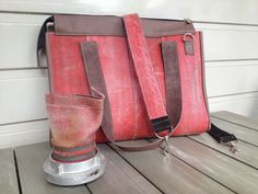 Big workbag, made of the used firehose Fire Hose Projects, Fire Hose Crafts, Online Pet Supplies, Dog Supplies, Dog Chew Toys, Dog Toys, Fire Hall, Work Bags, Dog Accessories