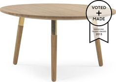 Range Round Coffee Table, Solid Oak and Brass from Made.com. Light Wood/Brass. Express delivery. A practical coffee table that'll complement any liv..