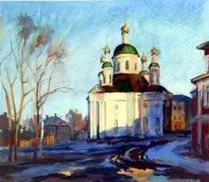 by Victor Ovcharov (1928-1995, Malorechka Village, Altai Region, Tumen, Siberia USSR)