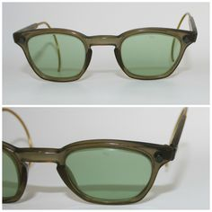 423f4d513c Vintage 1950 s Safety Goggles American Optical AO Steampunk Glasses 6 3 4  Green T4